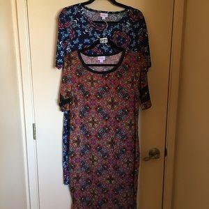 2 LulaRoe Julia dress lot